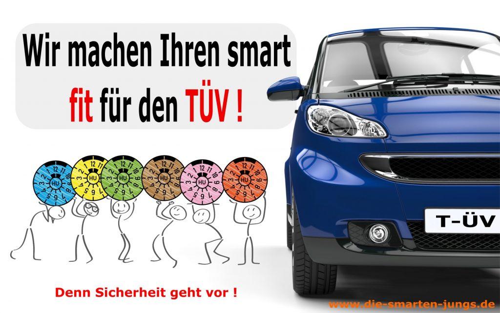 TÜV-Plaketten mit blauem smart